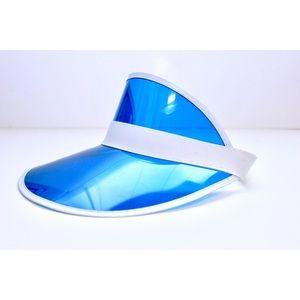 Accessories - Neon Blue Summer Visor Sun Hat